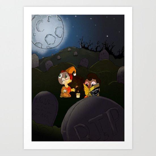 midnight adventure Art Print