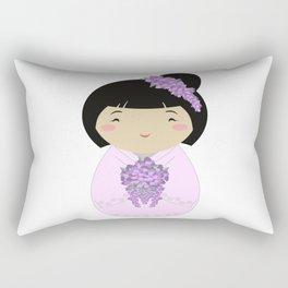 Kokeshi Wisteria Bride Rectangular Pillow