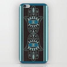 Aqua Double Denim Hamsas iPhone & iPod Skin