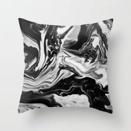 Black and White Marble  Throw Pillow