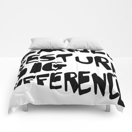 Small Gesture Big Difference Positive Quote Comforters
