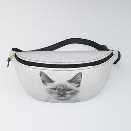 Cat - Black & White Fanny Pack