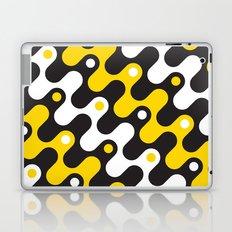 Yellow & black waves Laptop & iPad Skin