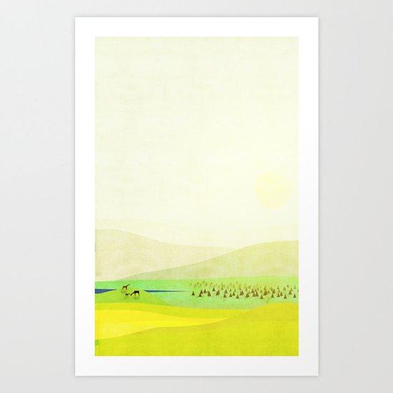 Minimal Meadow Redux Art Print