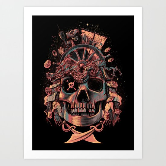 Dead Pirate's Gold Art Print