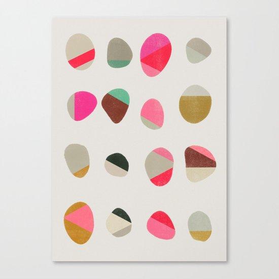 painted pebbles 1 Canvas Print
