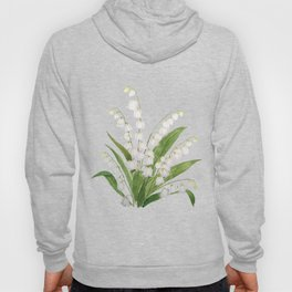 white lily of valley Hoody