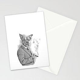 mobster dog Stationery Cards