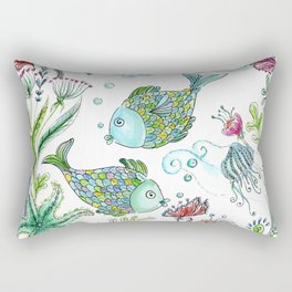 2 fishes Rectangular Pillow