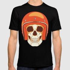 Helmet Skull Black Mens Fitted Tee LARGE