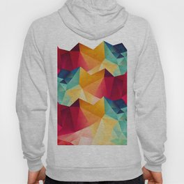 geometric color mountains Hoody