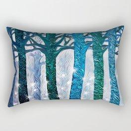 The forest of fireflies Rectangular Pillow