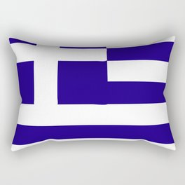 Greece flag emblem Rectangular Pillow