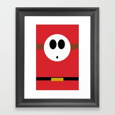 Minimalist Shy Guy Framed Art Print