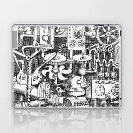 DINNER TIME FOR THE ROBOT Laptop & iPad Skin