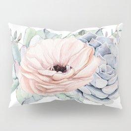 Pastel Succulents by Nature Magick Pillow Sham