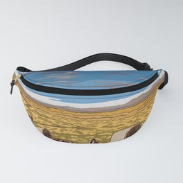 Vintage Poster - The Oregon National Historic Trail, Wyoming (2015) Fanny Pack