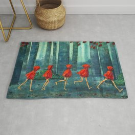 Five Little Red Riding Hoods 1 Rug