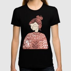 The Botanist Black X-LARGE Womens Fitted Tee