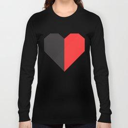 heart 50/50 Long Sleeve T-shirt