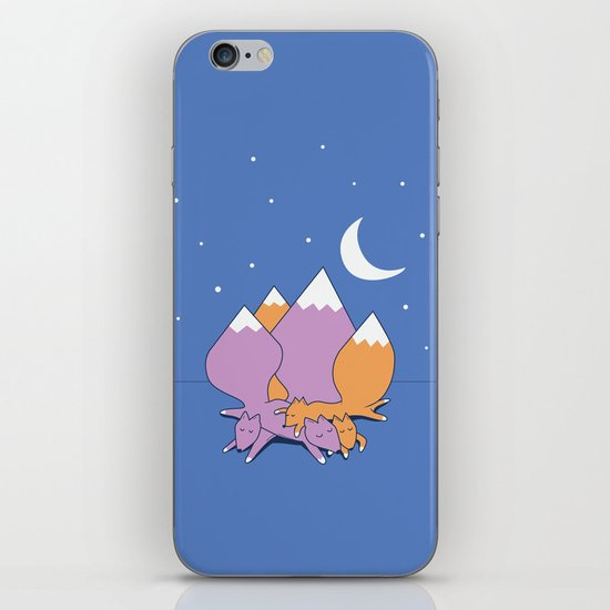 Let sleeping foxes lie iPhone & iPod Skin