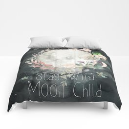 Stay Wild, Moon Child Comforters
