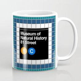 subway natural history sign Coffee Mug