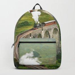 Hogwart Express steam engine in the scottish highlands Backpack