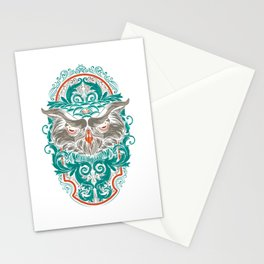 Owl Bird Animal Pet Lover Cool Gift Stationery Cards