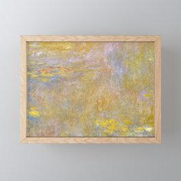 Sea-Roses (Yellow Nirwana) by Claude Monet Framed Mini Art Print