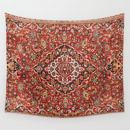 Kashan  Antique Central Persian Rug Print Wall Tapestry