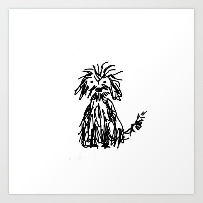 Doggy day Art Print