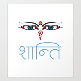 Shanti - buddha eyes Art Print