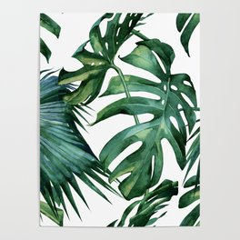 Simply Island Palm Leaves Poster