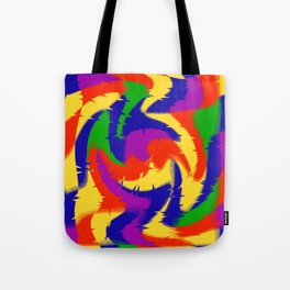 Abstract Red Blue Green & Purple Tote Bag