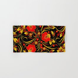 Russian khokhloma Hand & Bath Towel