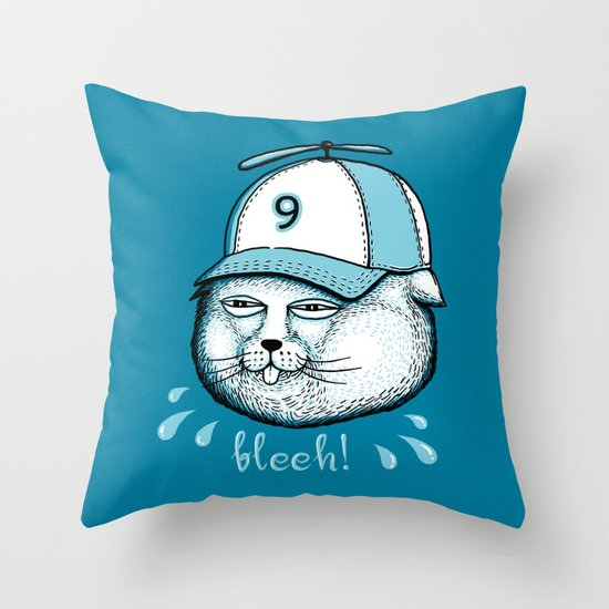 I have 9 lives, so Bleeh! Throw Pillow