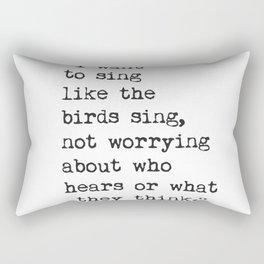 Rumi quote 4 Rectangular Pillow