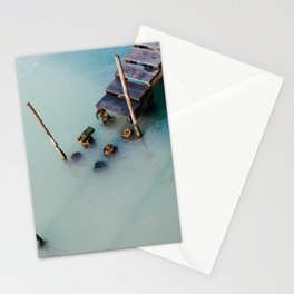 Blue water in de grand canal of Venice, italy | Travel and abstract photography  Stationery Cards