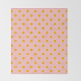 DOTS_DOTS_GOLD Throw Blanket