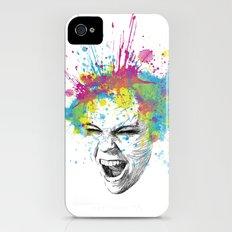 Crazy Colorful Scream iPhone (4, 4s) Slim Case