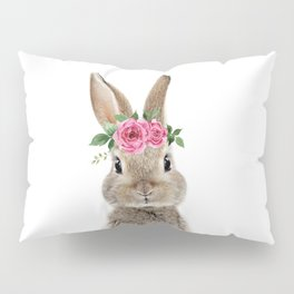 Bunny with Flower Crown Pillow Sham