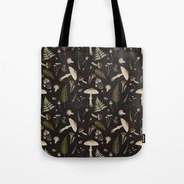 Mushroom pattern 1 black Tote Bag