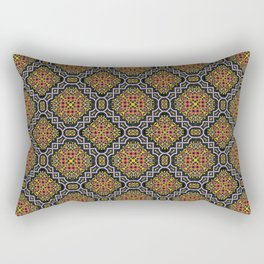 Curvy white highlights in aspen gold and turmeric 2019 spring/summer fashion colors Rectangular Pillow