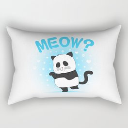 MEOW? (Blue) Rectangular Pillow