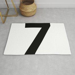 Number 7 (Black & White) Rug