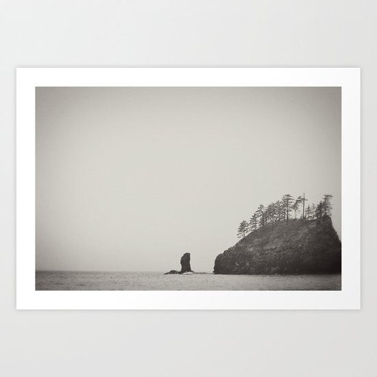 Beach Black and White Art Print