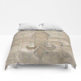 Fleur de lis pattern Comforters