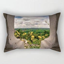 The Flowers Look Over Spain Rectangular Pillow
