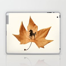 Horse on a dried leaf Laptop & iPad Skin